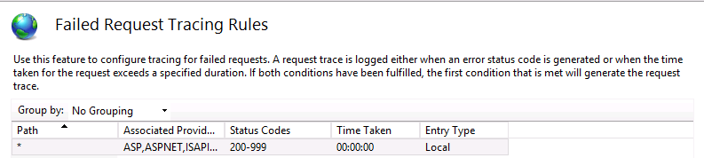How to Enable Failed Tracking Request in IIS7 0/8 5 -